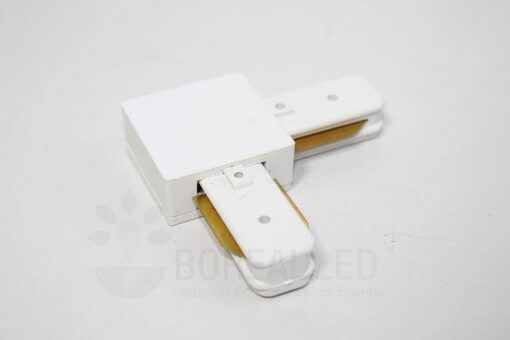 Conector Emenda L 90 Graus p/ Trilho Eletrificado Branco
