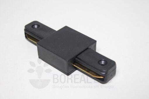 Conector Emenda Reta p/ Trilho Eletrificado Preto