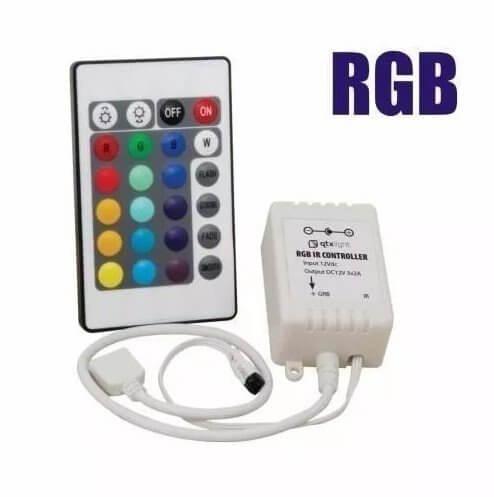 Controladora e Controle Remoto p/ Fita LED RGB 3528 5050 12V