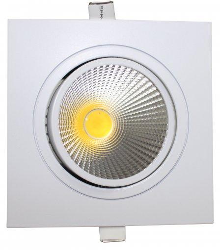Spot de Embutir LED COB Quadrado Metal 9W Luz