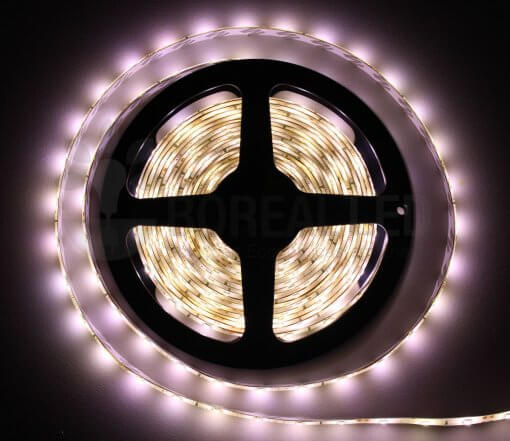 Fita LED 3528 Branco Neutro 4000K 300 Leds 5 Metros 12V IP65 Dupla Face
