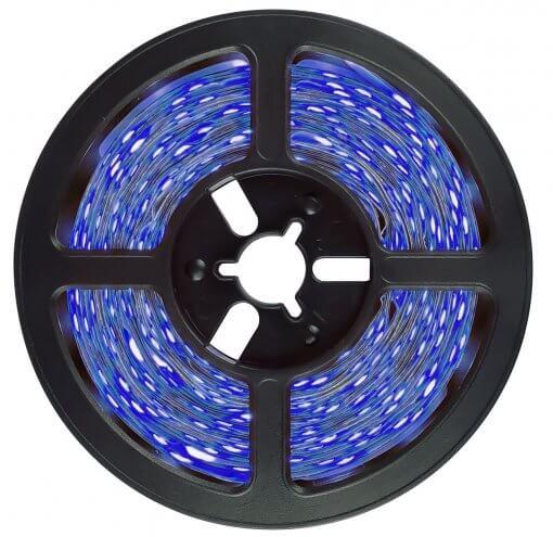 Fita LED 5050 Azul 5 Metros 300 Leds 12V IP65 Prova D'agua
