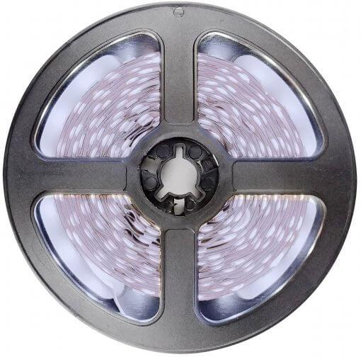 Fita LED 5050 Branco Frio 300 Leds 5 Metros 12V IP65 Dupla Face