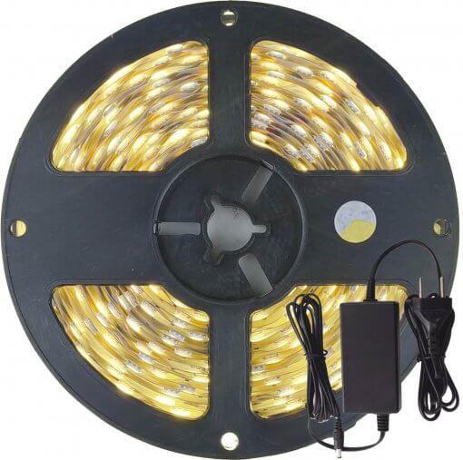 Fita LED 5050 Branco Neutro 300 Leds 5 Metros 12V IP20 + Fonte