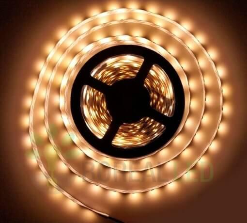 Fita LED 5050 Branco Quente 300 Leds 5 Metros 12V IP20 Uso Interno