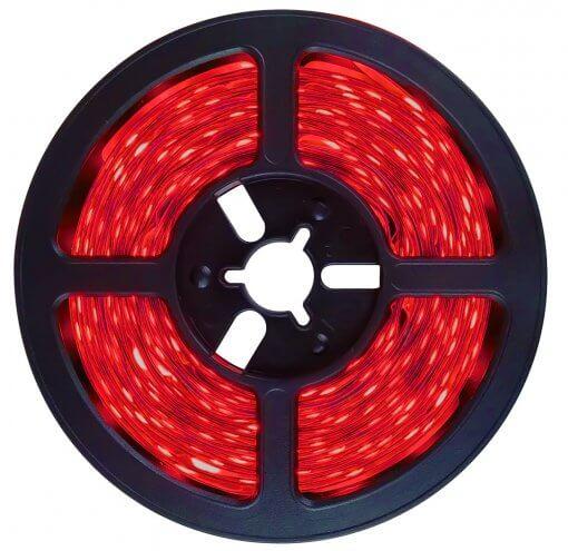 Fita LED 5050 Vermelha 300 Leds 5 Metros 12V IP65 Dupla Face