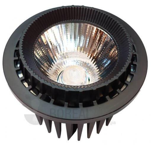 Lâmpada AR111 LED COB 25W Branco Quente 2.000lm Preto Bivolt Initial