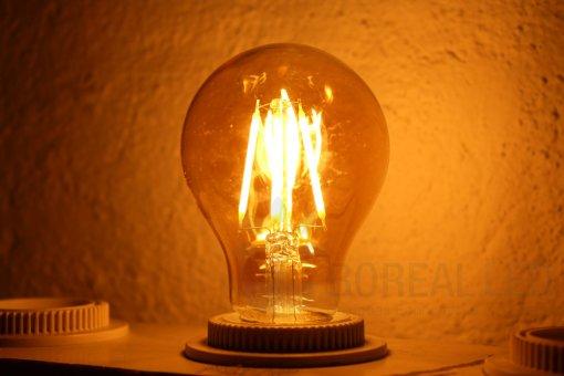 Lâmpada Filamento LED A60 4G 3,2W Âmbar 2300K Bivolt Vintage Retrô
