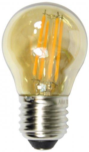 Lâmpada Filamento LED G45 4W Bolinha Âmbar 2300K