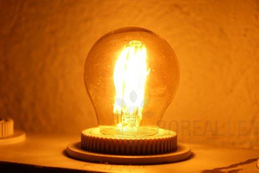 Lâmpada Filamento LED Bolinha 2G G45 1,8W E27 Âmbar 2300K