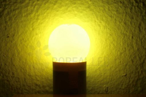 Lâmpada LED Bolinha 1W Amarela E27 127V
