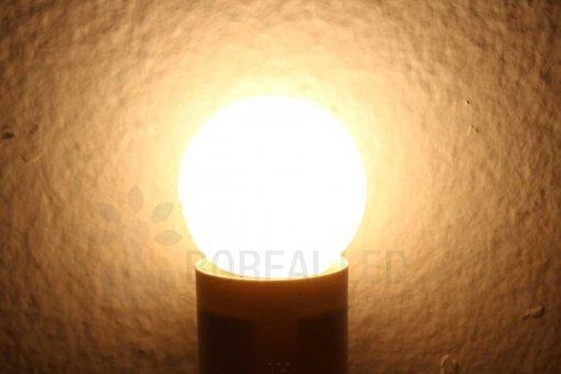Lâmpada LED Bolinha 1W Branco Quente E27 127V