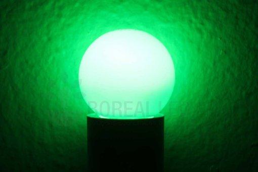 Lâmpada LED Bolinha 1W Verde E27 127V