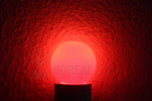 Lâmpada LED Bolinha 1W Vermelho E27 127V