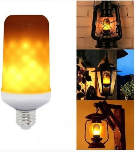 Lâmpada LED Efeito Chama de Fogo 5W Bivolt E27