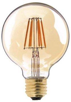 Lâmpada Filamento LED 6G G80 4,5W E27 Âmbar 2300K