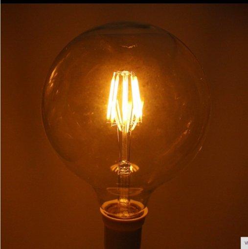 Lâmpada Filamento LED 6G G80 4,5W E27 Âmbar 2300K Vintage Retrô