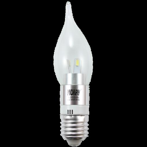 Lâmpada LED Vela 3W E27 Cristal Bico Torto