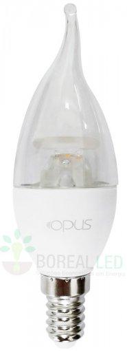 Lâmpada LED Vela Bico Torto Dimerizável 4.3W E14 Branco Quente