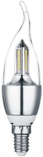 Lâmpada Vela Cristal Bico Torto 4W LED 320lm E14 Bivolt IP20 CTB