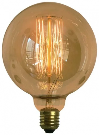 Lâmpada Vintage Filamento Carbono G125 40W Dimerizável Luz 2200K 220V