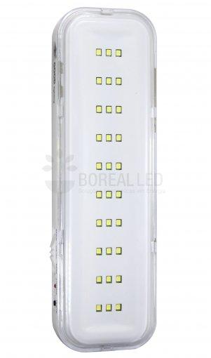 Luminária de Emergência 30 Leds - 2W - com Botão de Teste - Bateria de Litio