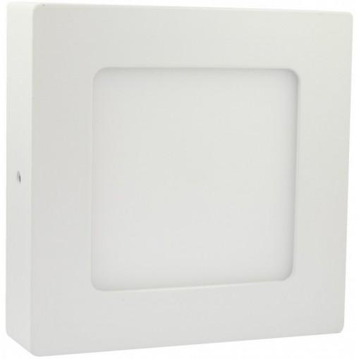 Painel Plafon LED Sobrepor 6W Quadrado 12x12cm Branco Frio