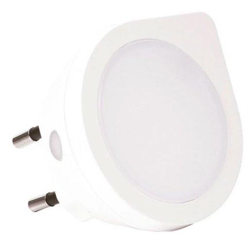 Luminária de Tomada LED Noturna Luz 4000K Branco Neutro Sensor de Luminosidade