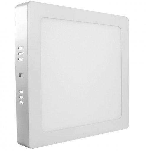 Plafon LED Sobrepor 12W Quadrado 17X17cm Bivolt Acabamento Branco