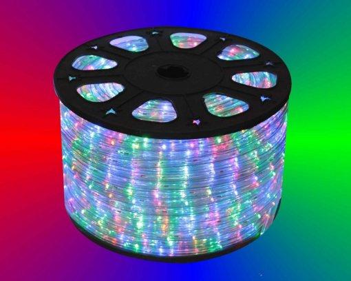 Mangueira de LED Rolo 100 Metros Colorida 28 LEDS/m 12mm