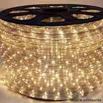 Mangueira LED Rolo 100 Metros Branco Quente 24 LEDS/m 11mm