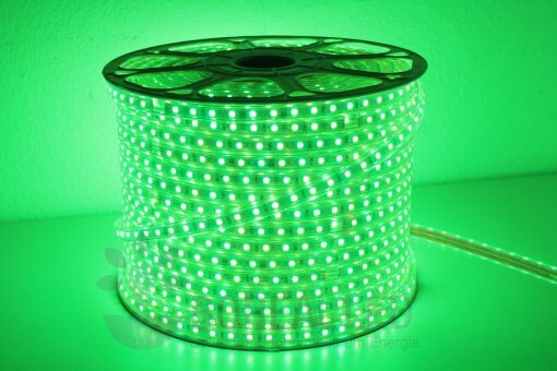 Mangueira LED 5050 Chata 10mm 600 LEDS 100 Metros RGB Colorida 110V