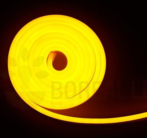Mangueira LED Neon Flex Luz Amarela 3m IP65 110V Uniled