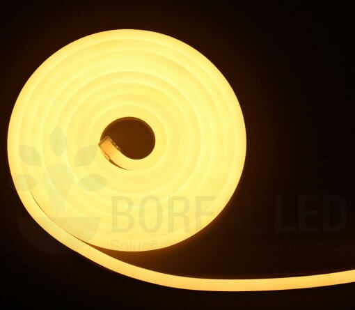 Mangueira LED Neon Flex Luz Branco Quente 3m IP65 110V Uniled