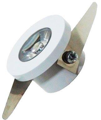 Mini Spot de Embutir LED 1W Redondo 3,2cm Fixo Branco Quente
