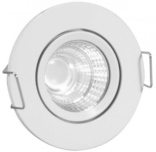 Mini Spot LED COB Redondo 3W 5X5cm Direcionável Branco Quente A.XU