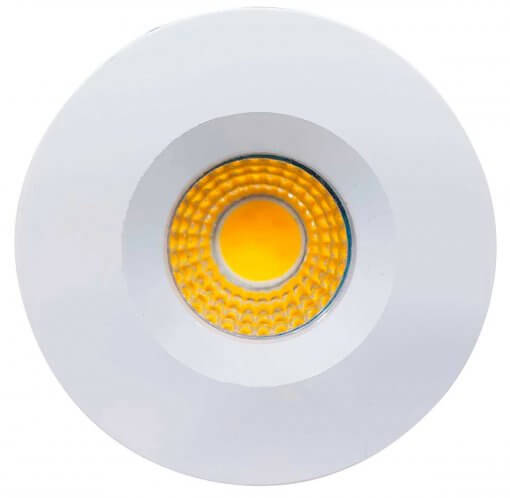Mini Spot LED Embutir 3W Redondo 4,6cm Fixo Branco Quente