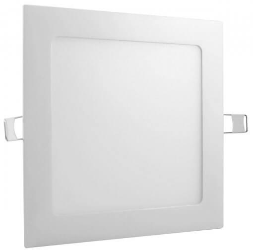 Painel Plafon LED 18w Embutir Quadrado 22x22cm Branco Quente