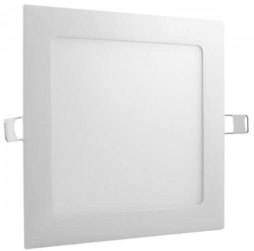 Painel Plafon LED Embutir 12W Quadrado 17x17cm Branco Quente