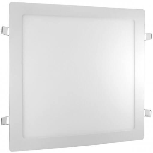 Painel Plafon LED Embutir 24W Quadrado Branco Quente