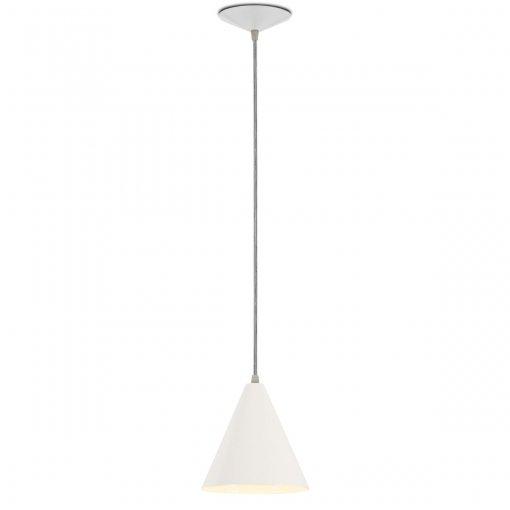Pendente Cone Alumínio Branco Bocal E27 Nacional Iluminação