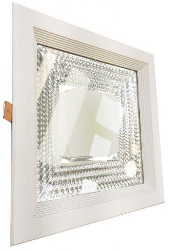 Plafon Embutir LED COB Quadrado 30W Luz Branco Frio 6500K