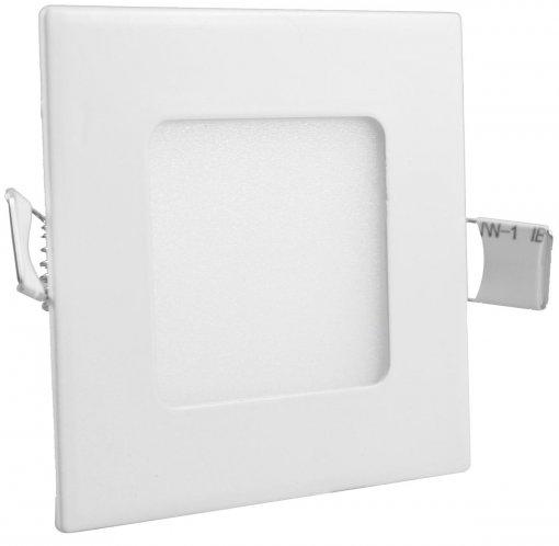 Painel Plafon LED Embutir 3W Quadrado 9X9cm Branco Frio