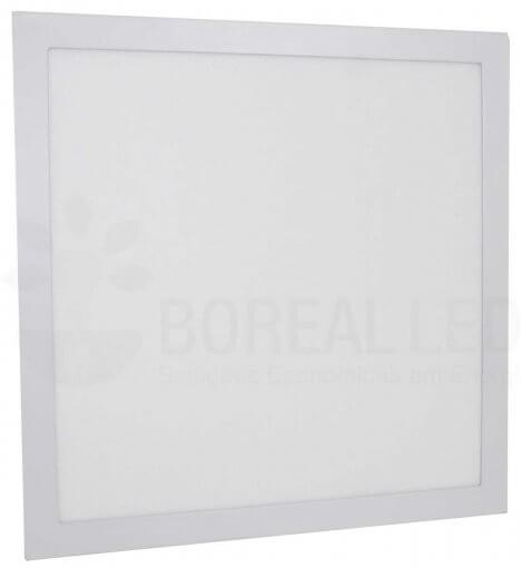 Plafon LED Embutir Quadrado 40x40cm 36W Luz 3000K Bivolt Marca CTB