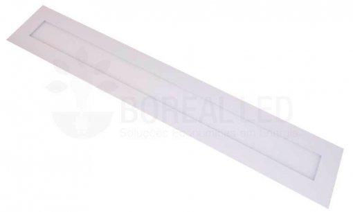 Plafon LED Embutir Retangular 18W 10x60cm Bivolt