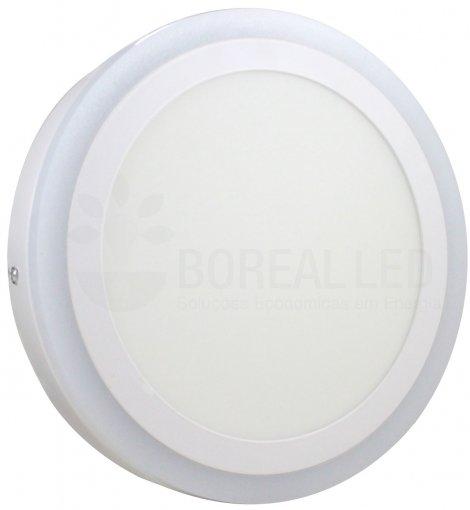 Plafon LED Sobrepor Azul e Branco 2 IN 1 Redondo 18W/24W 24X24cm