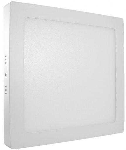 Painel Plafon LED Sobrepor 18W Quadrado Branco Frio