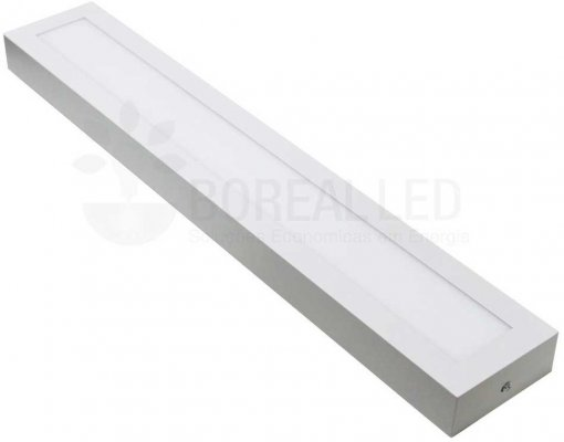 Plafon LED Sobrepor Retangular 18W 10x60cm Bivolt