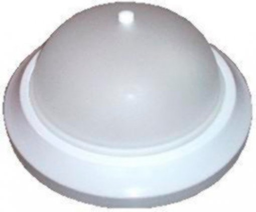 Plafon Sobrepor Saturno Aluminio Vidro Fosco Acabamento Branco