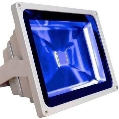 Refletor Holofote LED 50W Azul Bivolt IP66 KLTG-50WBLA Jikatec